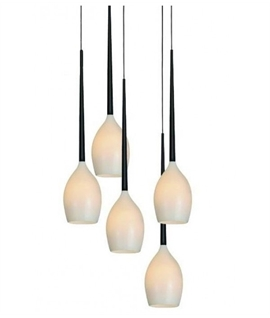 2600mm Long Suspended Eight Light Cluster Pendant In Four
