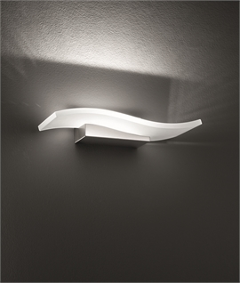 White Curved Glass LED Wall Light