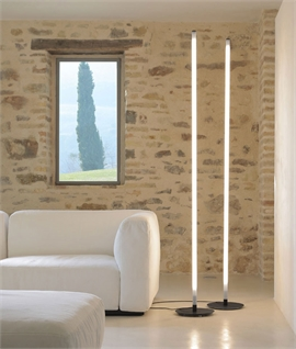 Karman Accipicchio White Glass Tube Floor Light