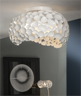 White Pebbles Irregular Flush Light