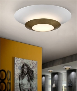 LED Flush Light - Gold or Silver Leaf