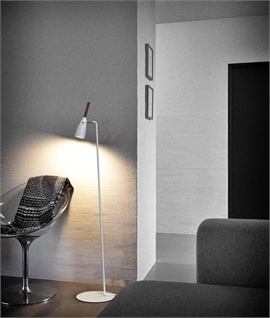 Floor-Standing Reading Light Low Glare Adjustable Design with Oiled Walnut Detail