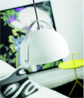 Metal Pendant Light Ø 300mm - White