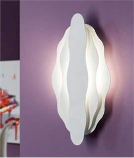 White Tiered Wall Light