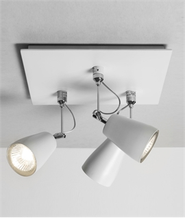 Triple Adjustable Square Spotlight in White