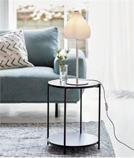 Glass Table Lamp - White or Smoked Options