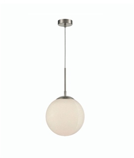 Globe Textured Glass Pendant Light - Two Designs