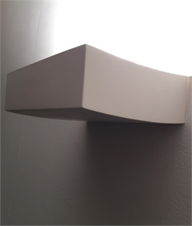 Dimmable Plaster Uplight Compact Design with a Smooth Natural Finish