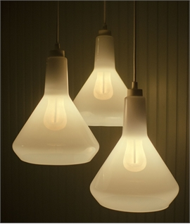 Hand-Blown Glass Shade Pendant Kit with LED 002 Lamp
