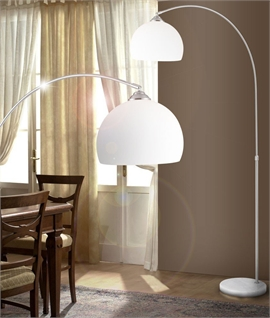 Arched Floor Lamp with Shade