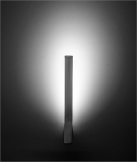 White Finish Thin LED Wall Light