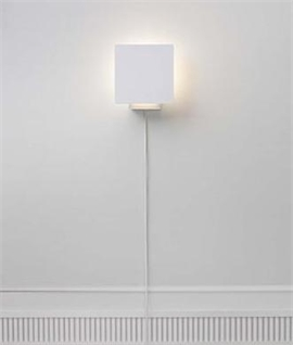 White Square Wall Light Back Lit with LEDs