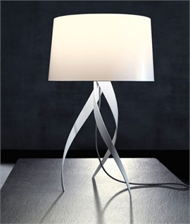 Table lamps with fabric shades lighting styles medusa swirl leg table lamp medusa swirl leg table lamp aloadofball Choice Image