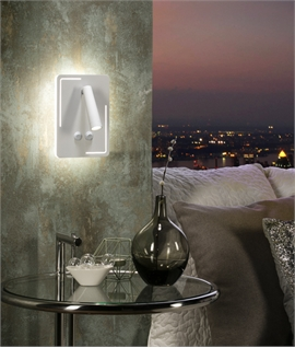 White LED Adjustable Double Switch Plate