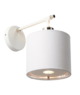 Textile Shaded Wall Light with Diffuser
