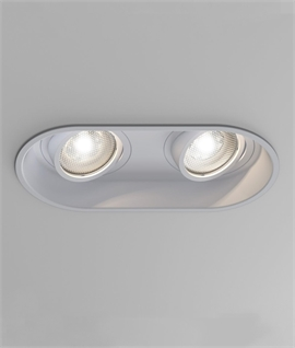 Angled Low Glare Adjustable Twin Downlight for LED Lamps