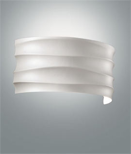 White Rippled Effect Designer Wall Light
