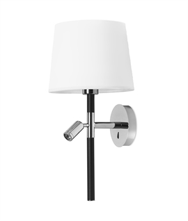 Slim Chrome Bedside Luminaire with Reading Light