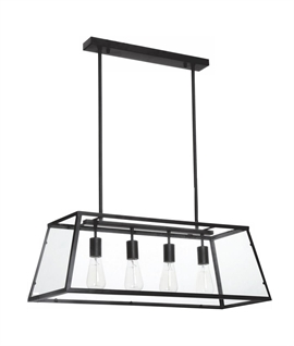 Black Wide Box Light - Bare Lamps