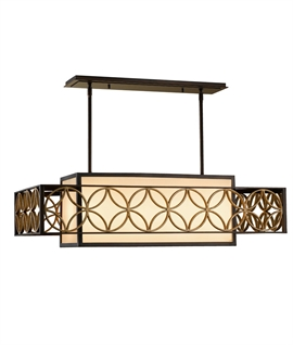 Box Wide Ceiling Light - Arts & Craft Design