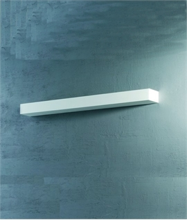 Edge Wide Plaster Wall Up Light - 3 Widths