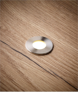 Stainless Steel Small LED Light IP67 - Exterior or Indoor Use