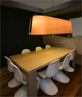 Extra Wide Wood Grain Suspension Pendant - 1510mm