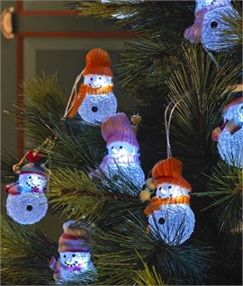 Woolly Hat Snowmen Chain - Indoor Only