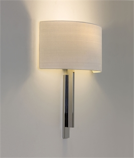 Wall Light Fixture - low profile with wrap-around shades
