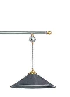 Ceramic triple flex wide suspended pendant for Lustre suspension triple