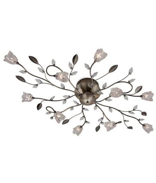 Semi Flush 10 Light Flower Amp Leaf Design