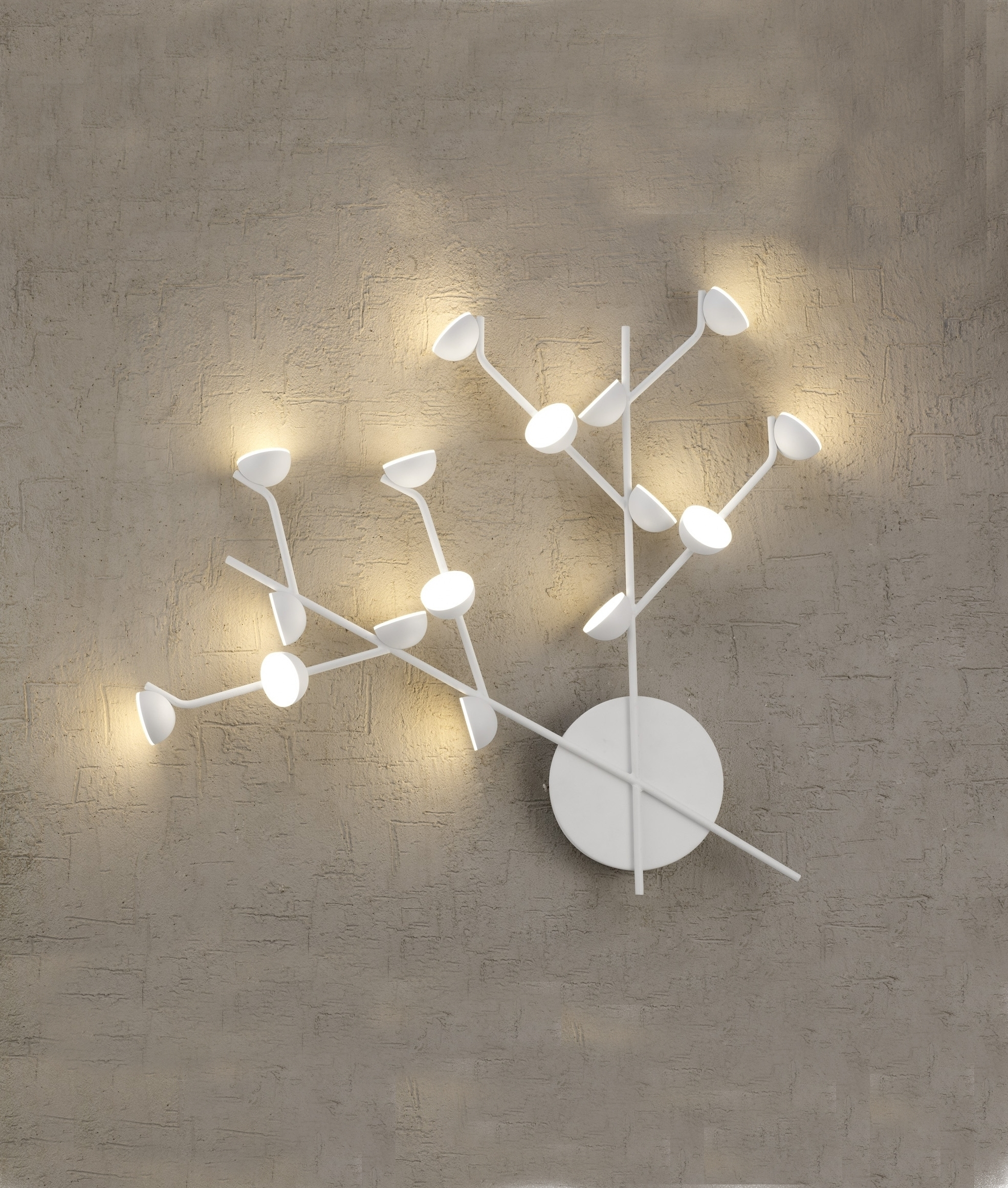 Funky Wall Lights >> Led White Multi Lamp Wall Light