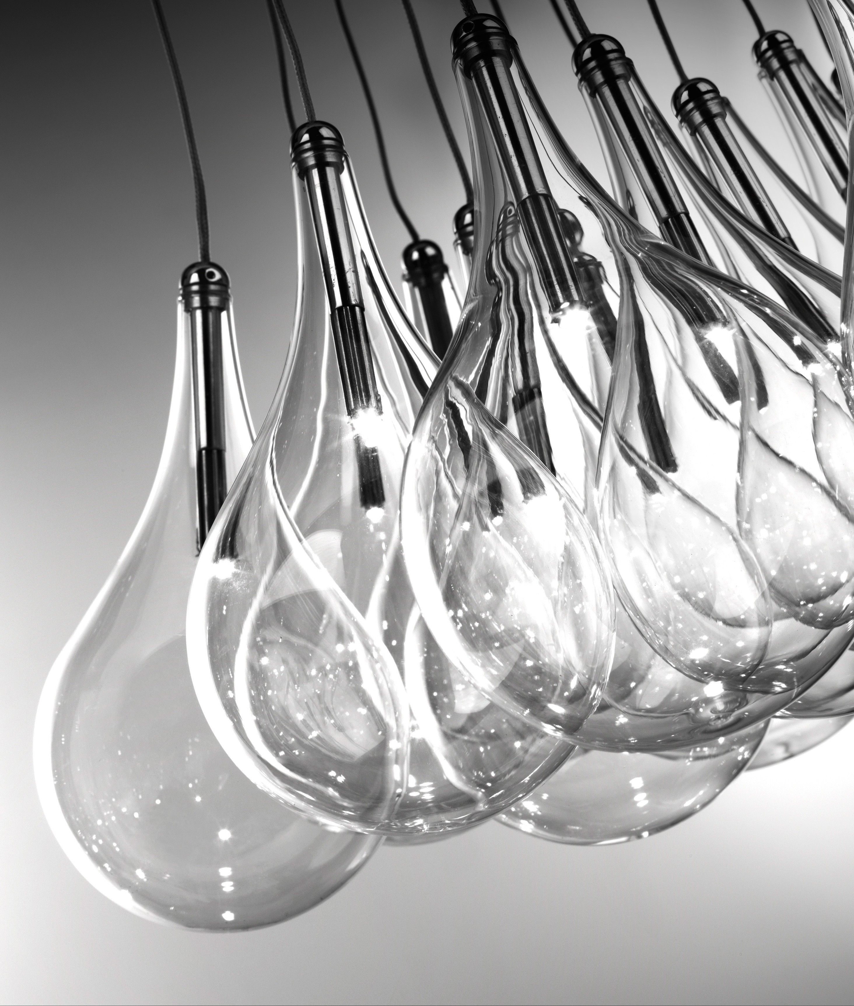 Teardrop Glass 16 Light Square Cer Pendant Choose 12v G4 Or Led Lamps