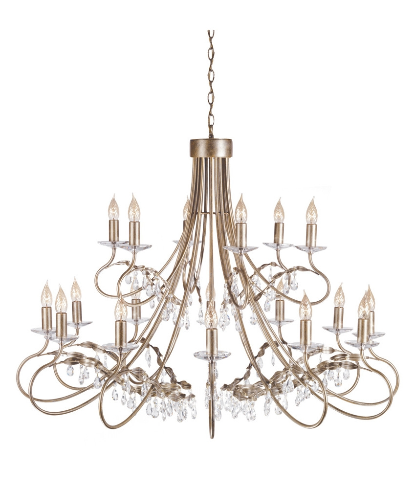 18 Light Chandelier In Silver Amp Gold Finish