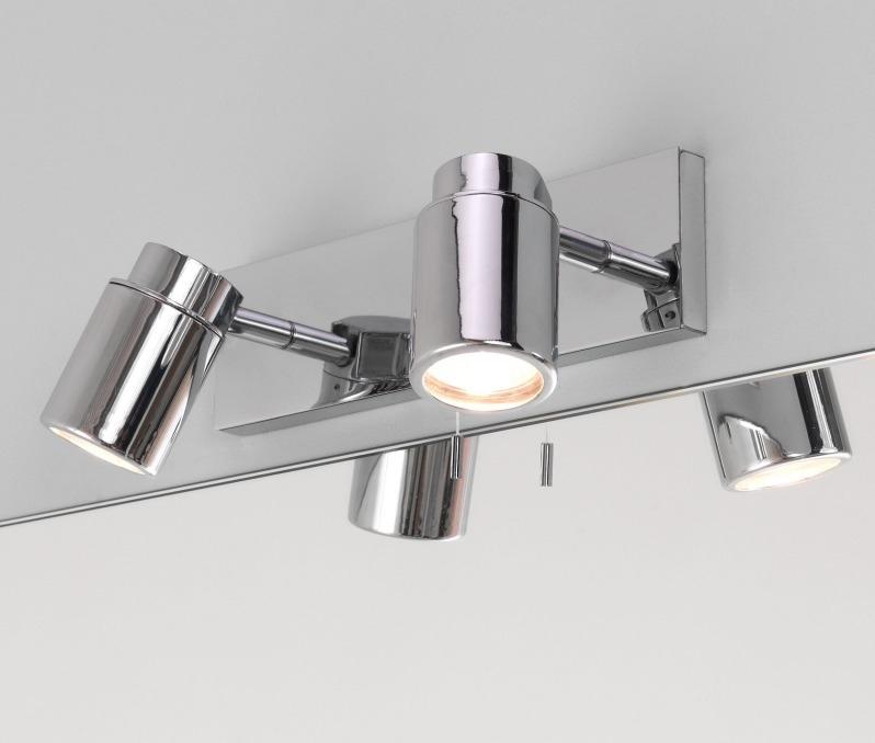 Bathroom Wall Mounted Twin Spotlight in Polished Chrome ...