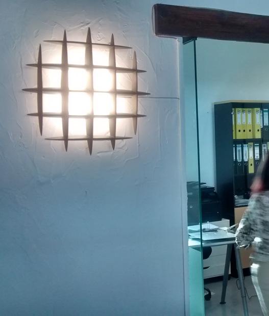 Plaster Wall Lights For Painting : Gemme Designer Plaster Wall Light