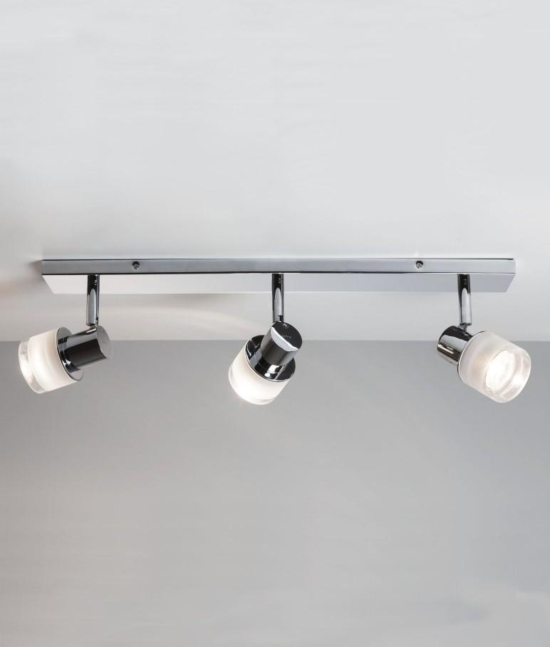 Chrome triple light bar for bathrooms - Chapter 3 light bar bathroom light ...