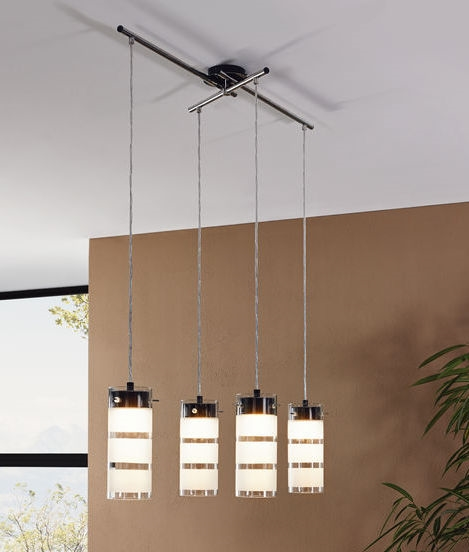 Suspended led dining pendant four shades for Suspension led cuisine