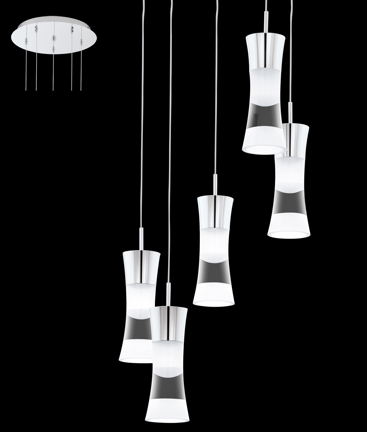 LED Multi Drop Light Pendant - 5 pendant light fixture