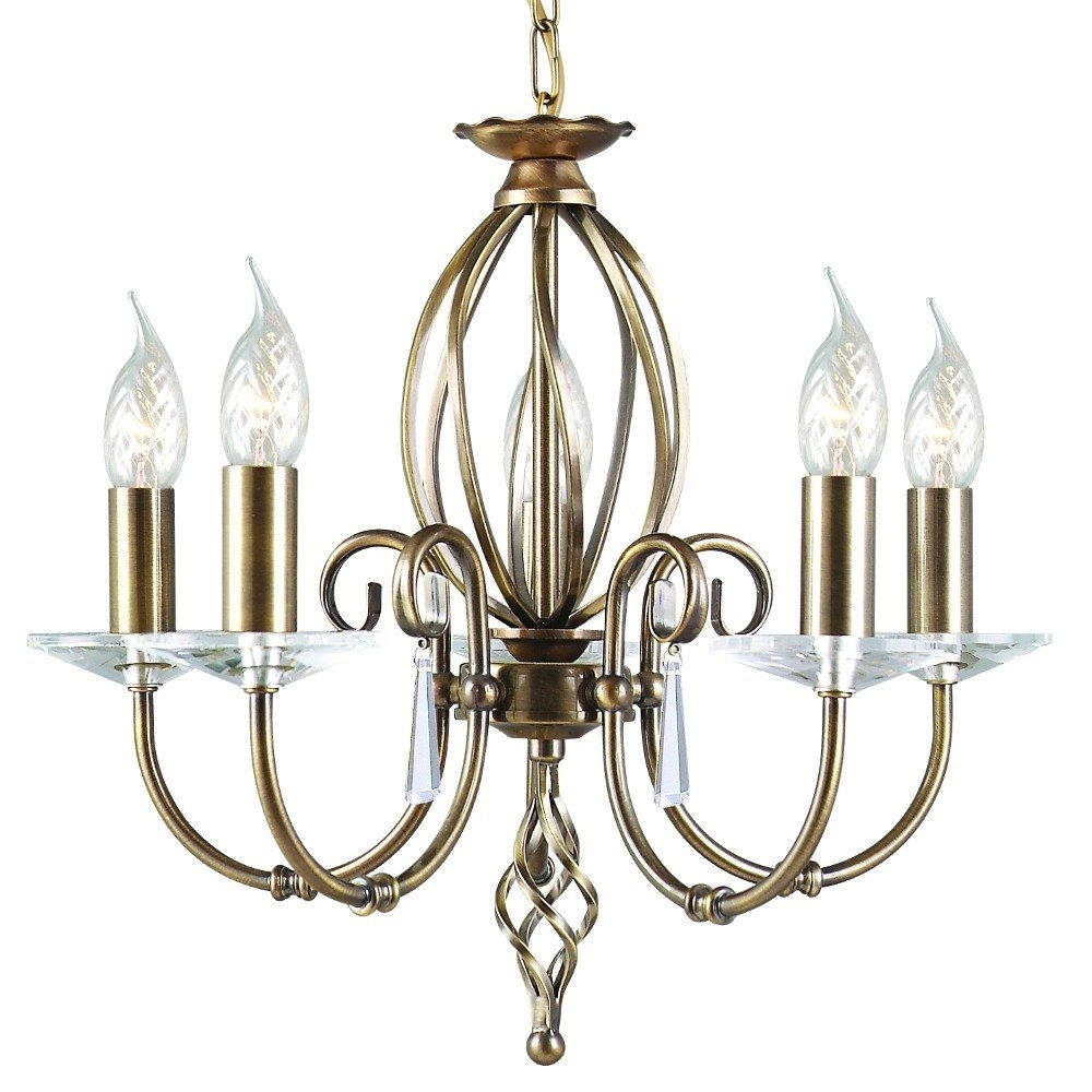 Aegean 5 Light Chandelier By Elstead Priced To Clear