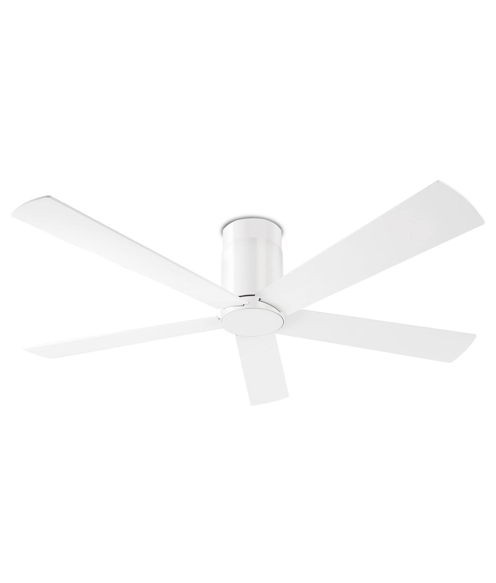White Or Grey Ceiling Fan With Reversible Blades And