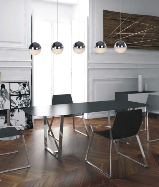 Helpful Tips To Light Your Kitchen For Maximum Efficiency: LED Glitter Ball Bar Pendant Choose 3 Or 5 Light Option