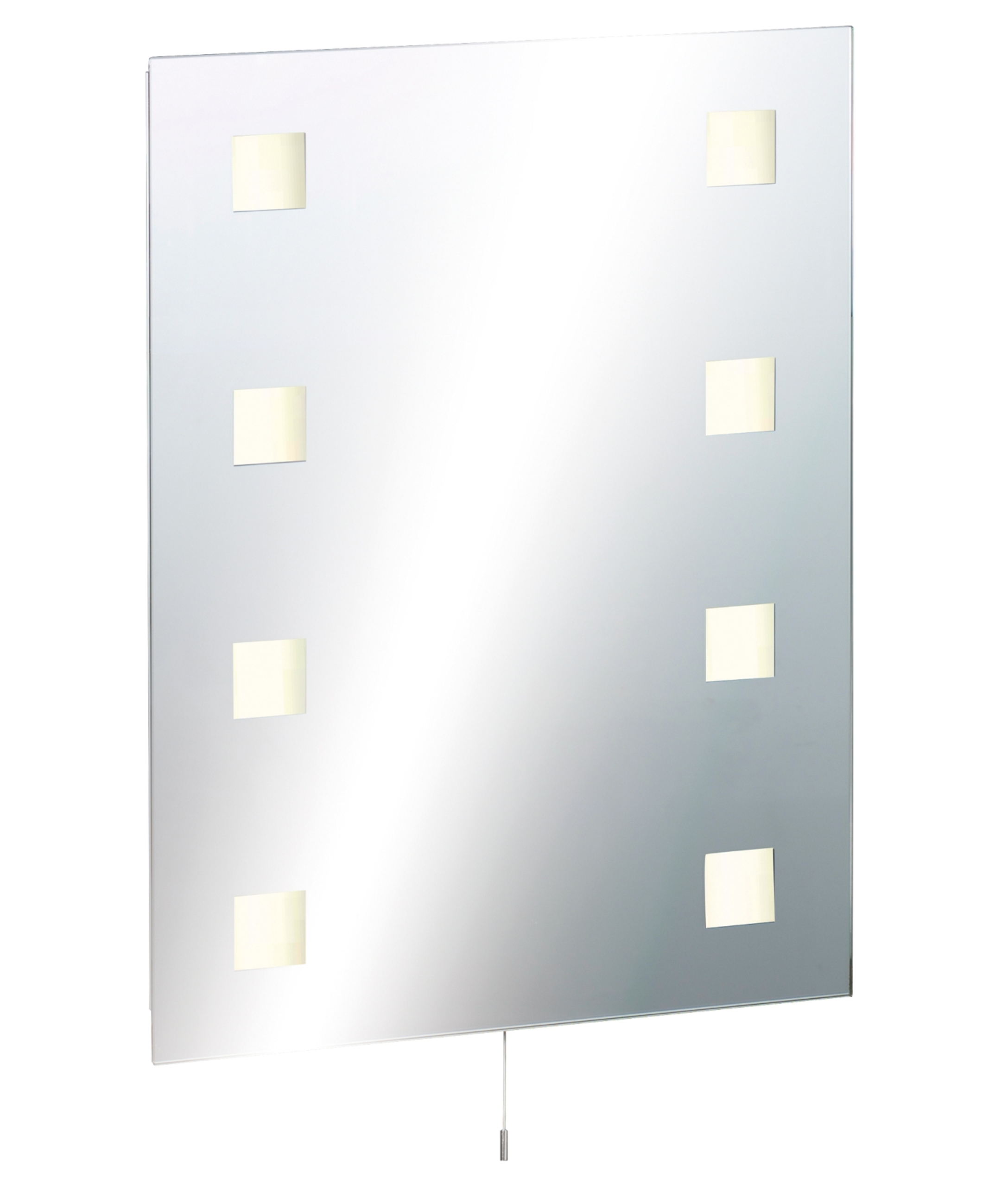 Shaver socket and switched 600mm x 450mm Illuminated Bathroom Mirror