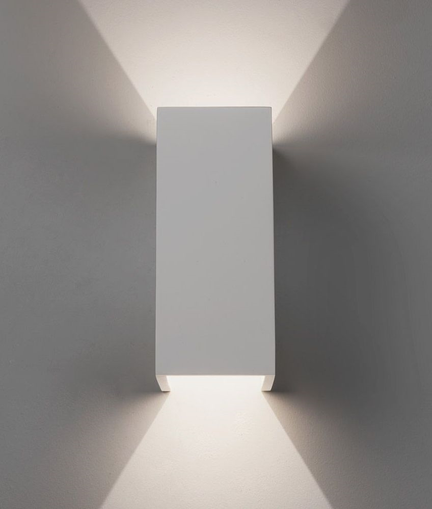 Plaster Sleek Up Amp Down Wall Light