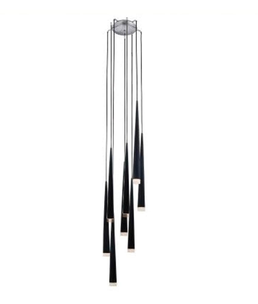 lighting styles. Long Drop 8 Shade Light - Black, White Or Chrome Lighting Styles A