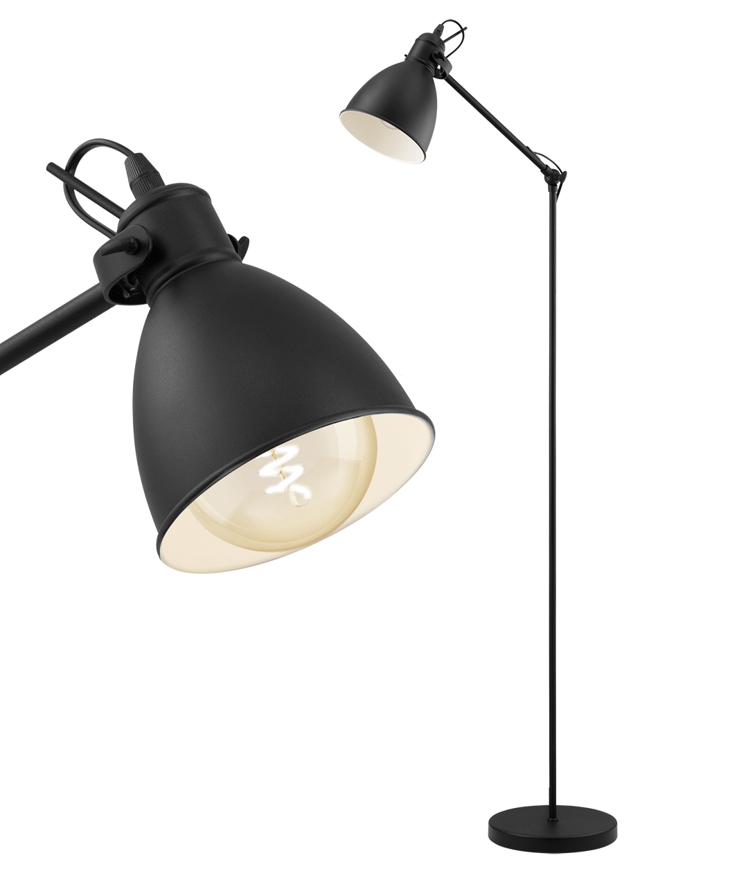 Black Vintage Style Floor Lamp