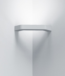 Slim Profile Corner Wall Light In Plaster Finish