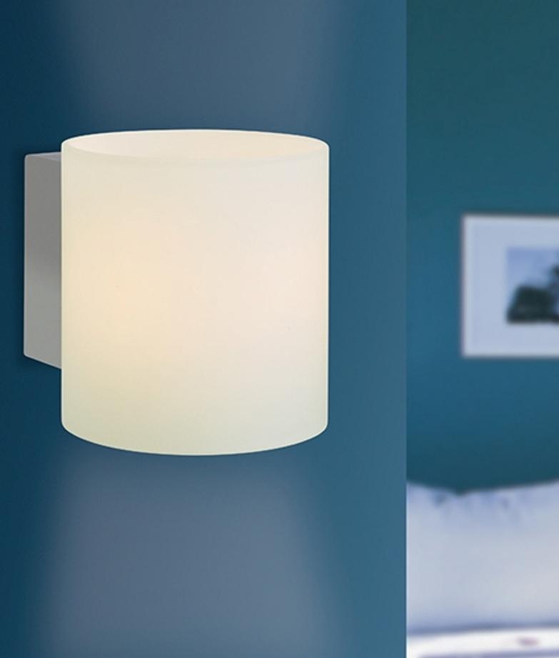 Chrome and Opal Glass Wall Light