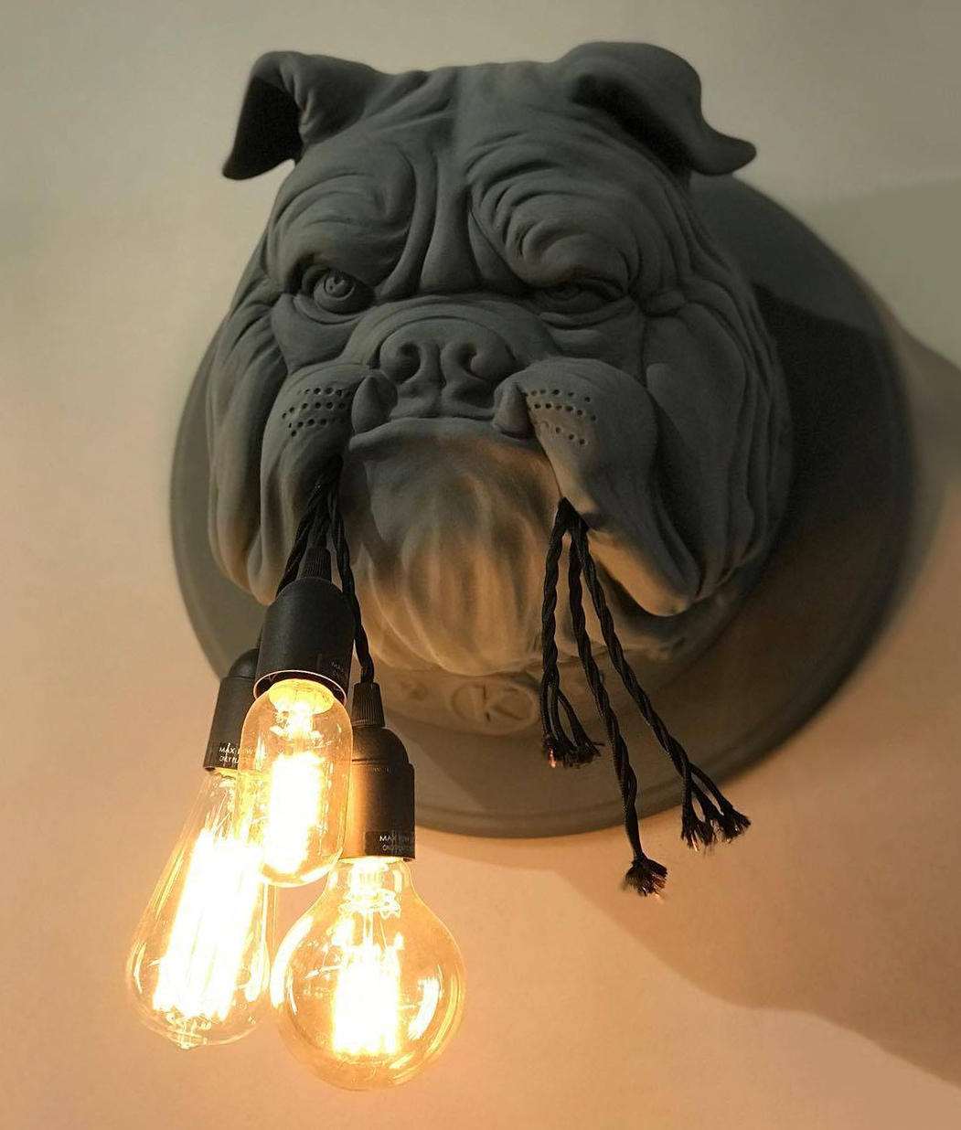 Unusual English Bulldog Wall Light Hanging Lamps