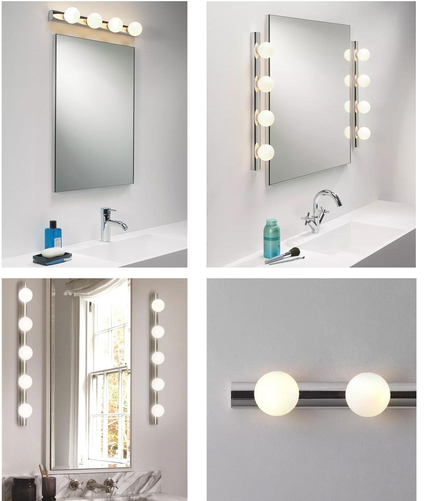 Bathroom Mirror Wall Lights, How To Change Led Bulb In Bathroom Mirror